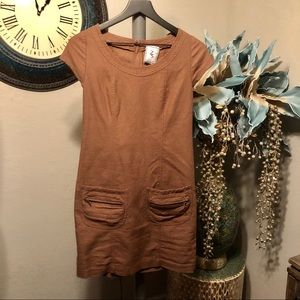 Zachary's Smile Linen Blend chocolate dress